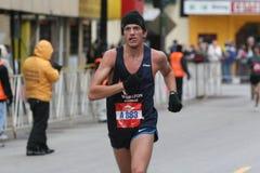 Corredor de maratón de Chciago Imagenes de archivo