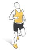 Corredor de maratona ilustração stock