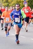 Corredor de maratona Imagens de Stock