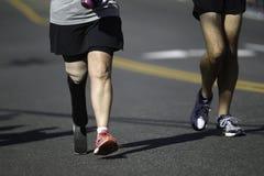 Corredor de maratona deficiente Foto de Stock Royalty Free