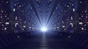 Corredor de vidro futurista Fotografia de Stock