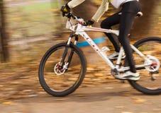 Corredor del ciclista de la velocidad Fotografía de archivo libre de regalías