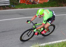 Corredor del ciclista en la raza Fotos de archivo
