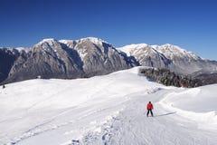 Corredor del esquí Imágenes de archivo libres de regalías