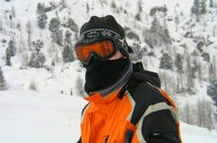 Corredor del esquí Fotografía de archivo
