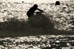 Corredor del esquí del jet Imagenes de archivo