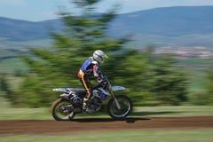 Corredor del motocrós Fotografía de archivo