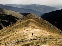 Corredor del rastro en las montañas fotos de archivo libres de regalías