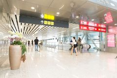 Corredor do aeroporto imagens de stock royalty free