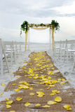 Corredor do casamento de praia Imagens de Stock Royalty Free