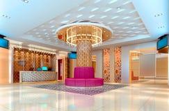 corredor do clube 3D, salão Imagens de Stock
