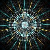 Corredor do computador do quantum, com elementos do movimento imagens de stock royalty free