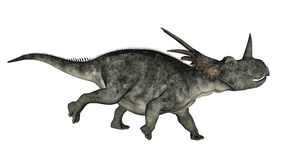 Corredor do dinossauro do Styracosaurus - 3D rendem Imagem de Stock Royalty Free