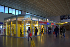 Corredor do estação de caminhos-de-ferro Fotografia de Stock Royalty Free