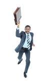 Corredor do homem de negócios isolado no branco Imagens de Stock