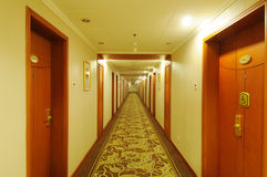Corredor do hotel fotos de stock