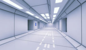 Corredor do interior da nave espacial Imagem de Stock