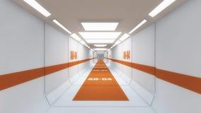 Corredor do interior da nave espacial Fotografia de Stock