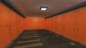 Corredor do interior da nave espacial Foto de Stock Royalty Free