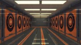 Corredor do interior da nave espacial Imagem de Stock