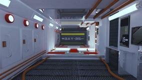 Corredor do interior da nave espacial Fotos de Stock