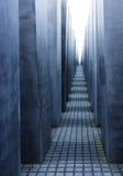 Corredor do memorial do holocausto - Berlim fotografia de stock