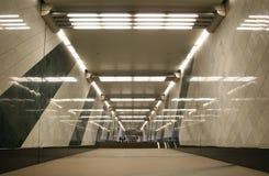 Corredor do metro Fotografia de Stock Royalty Free