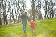 Corredor do pai e da filha Foto de Stock
