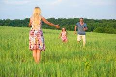 Corredor do paizinho e da filha Foto de Stock