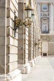 Corredor do palácio de Madridl Imagem de Stock Royalty Free