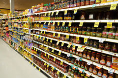 Corredor do supermercado Imagem de Stock