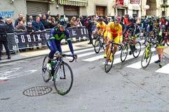 Corredor do Tour de France de Nairo Quintana acima Imagens de Stock Royalty Free