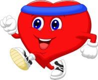 Corredor dos desenhos animados do coração a manter-se saudável Fotos de Stock