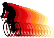 Corredor en una bici Fotografía de archivo