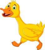 Corredor engraçado dos desenhos animados do pato Fotografia de Stock