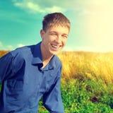 Corredor feliz do adolescente Fotografia de Stock