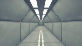 Corredor futurista da arquitetura do fundo Foto de Stock