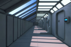 Corredor futurista da arquitetura do fundo Imagens de Stock