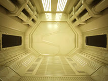 Corredor futurista de Sci fi Foto de Stock Royalty Free