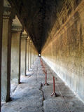 Corredor infinito de Ankgor Wat Fotos de Stock