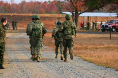 Marine Squad Running imagem de stock royalty free