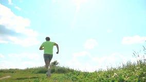 Corredor masculino atlético video estoque