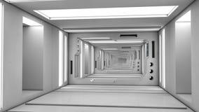 Corredor moderno e futurista da nave espacial Fotos de Stock