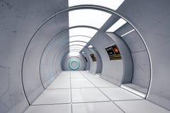 Corredor moderno e futurista da nave espacial Fotografia de Stock Royalty Free