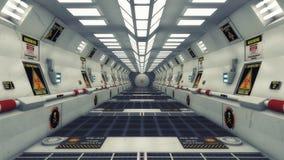 Corredor moderno e futurista da nave espacial Fotos de Stock Royalty Free