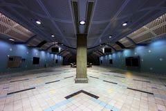 Corredor moderno subterrâneo do transporte Imagem de Stock Royalty Free