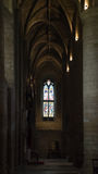 Corredor na abadia de Tewkesbury Fotos de Stock Royalty Free