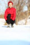 Corredor na neve do inverno foto de stock royalty free