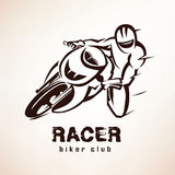 Corredor, símbolo de la bici del deporte libre illustration