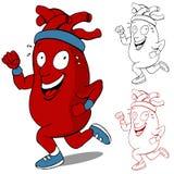 Corredor saudável do coração ilustração stock
